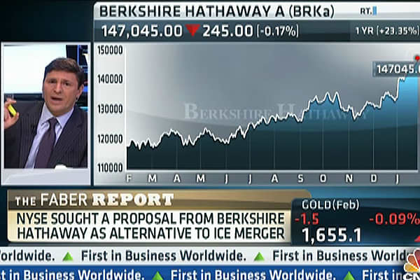 Buffett's Berkshire Had Merger Talks With NYSE: Faber
