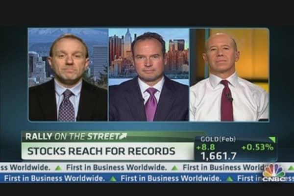 Stocks Reach For Records