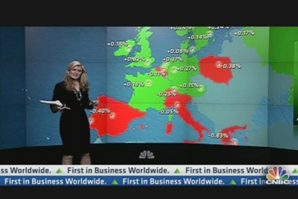 European Shares Close Up; Fed Meeting Eyed