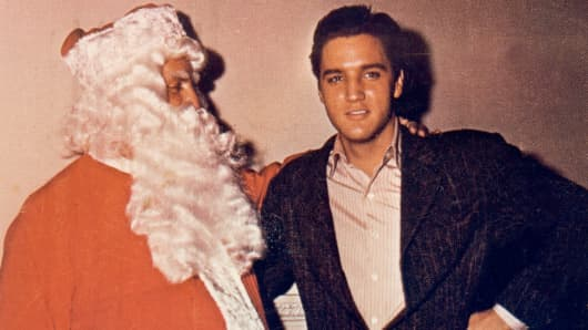 Elvis Presley and Santa Claus