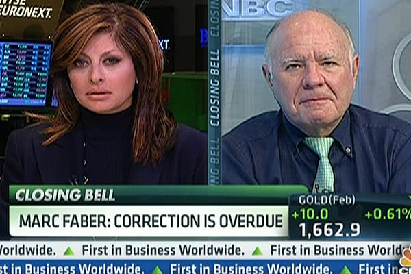 Marc Faber: I'm Selling ... Correction Coming