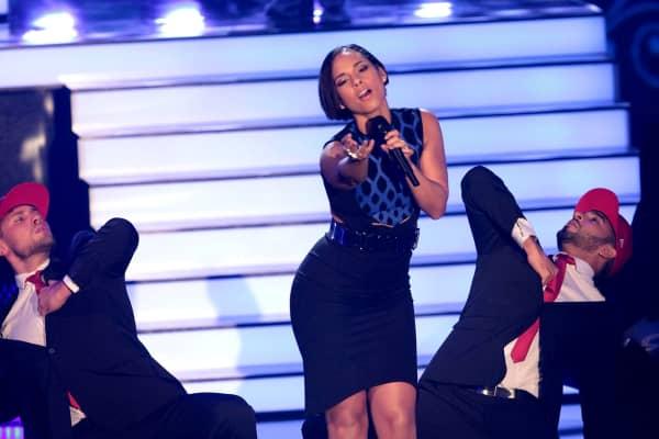 Alicia Keys attends 'Wetten dass..?' in Germany.