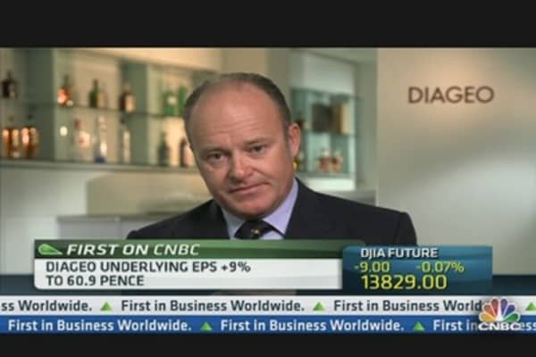 Diageo CEO: Continue to See Difficulty in Southern Europe