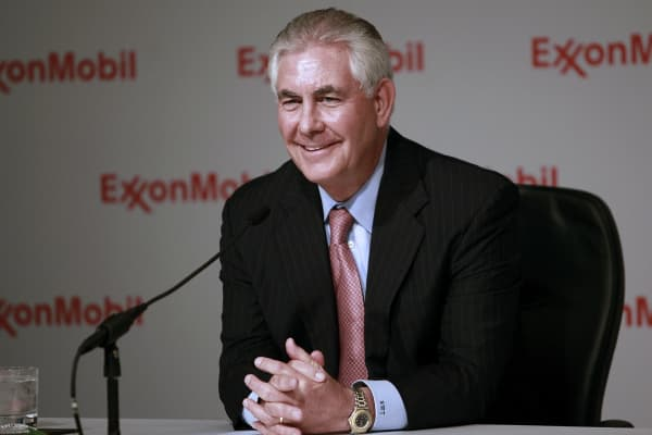Rex Tillerson CEO ExxonMobile