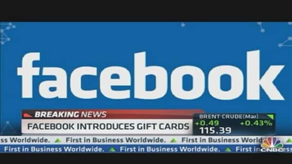 Facebook Introduces Gift Cards