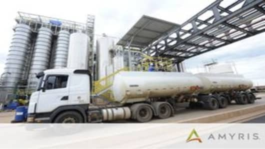 Amyris Ships First Truckload of Biofene From Its New Plant i