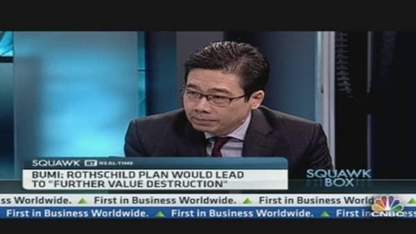 Rothschild Will Destroy Bumi's Value: Chairman