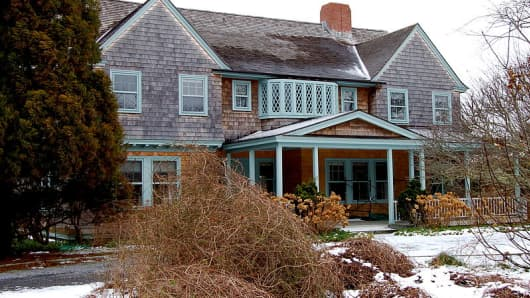 The Grey Gardens home in East Hampton, New York.