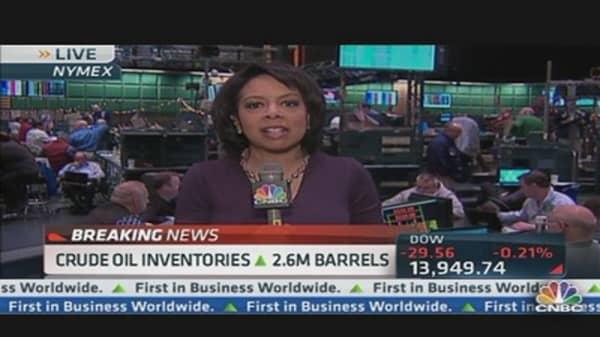 Crude Oil Inventories Up 2.6 Million Barrels