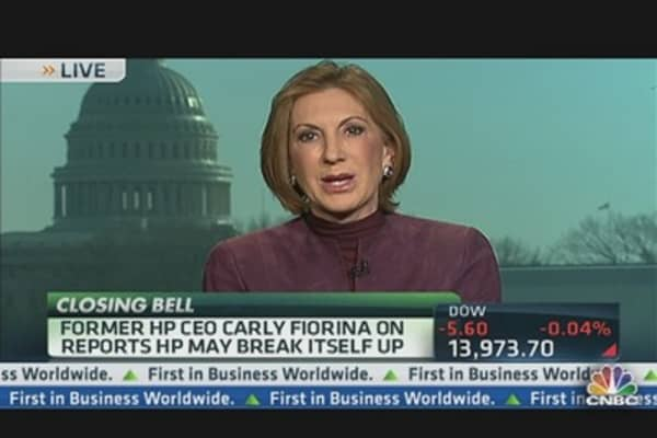 Former HP CEO Fiorina: We Looked at Breakup