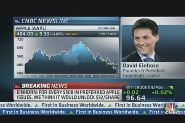 Einhorn: Apple's Cash 'Depression'
