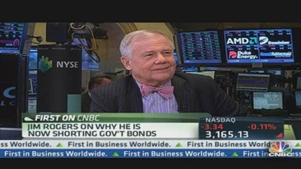 Jim Rogers: I'm Short Government Bonds