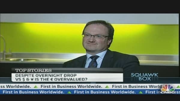 The Euro Is Not Overvalued: Expert