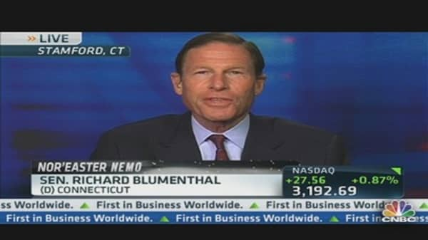 Sen. Blumenthal Talks Storm Nemo