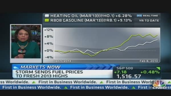 Storm Sends Fuel Prices to Fresh 2013 Highs