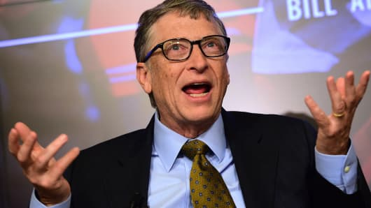 Bill Gates, founder of the Bill and Melinda Gates Foundation in Brussels on Jan. 22, 2015.