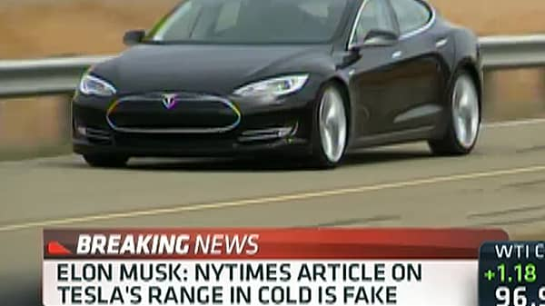 Elon Musk: NYTimes Article on Tesla's Range in Cold is Fake