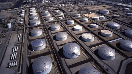 U.S. Petroleum storage tanks.
