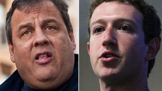Gov. Chris Christie and Mark Zuckerberg