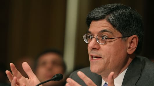 Jack Lew speaks during his confirmation hearing.