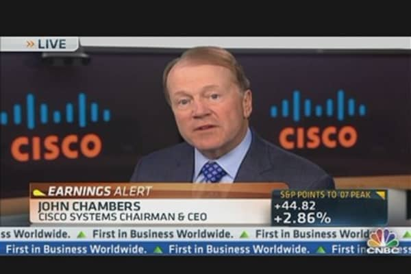 Cisco's CEO: Very Comfortable With Our Gross Margins