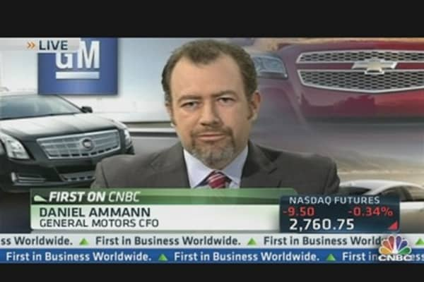 GM CFO: 'Simple Story for Quarter'