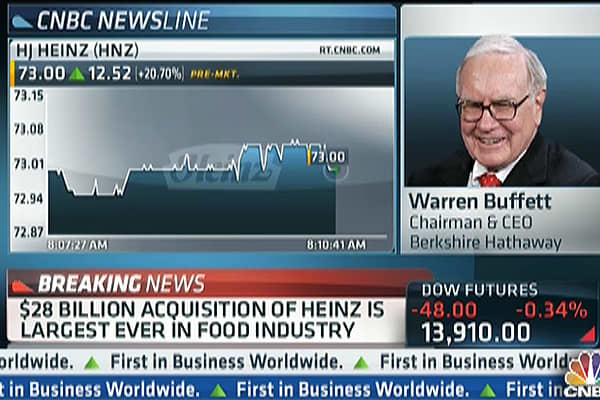 Buffett to CNBC: 'I'm Ready For Another Elephant!'