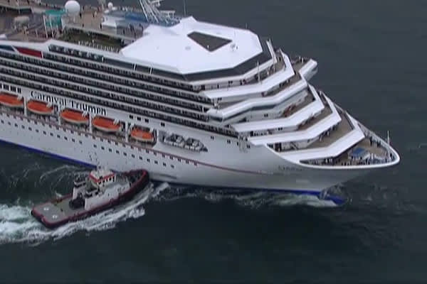 Stricken Carnival Cruise Ship Docks In Mobile Alabama - Mobile cruises