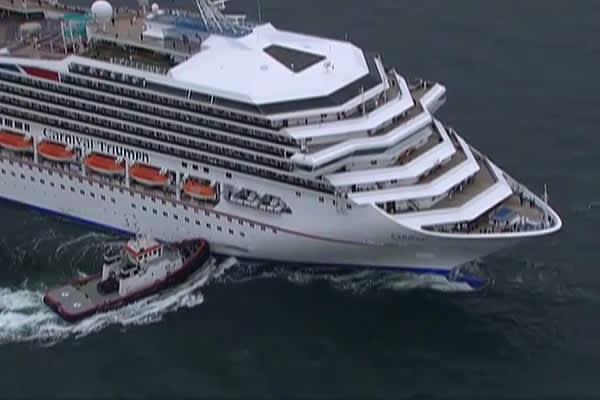 Stricken Carnival Cruise Ship Docks In Mobile Alabama - Cruise ship mobile alabama