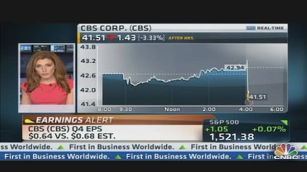 CBS Corp. Earnings Out