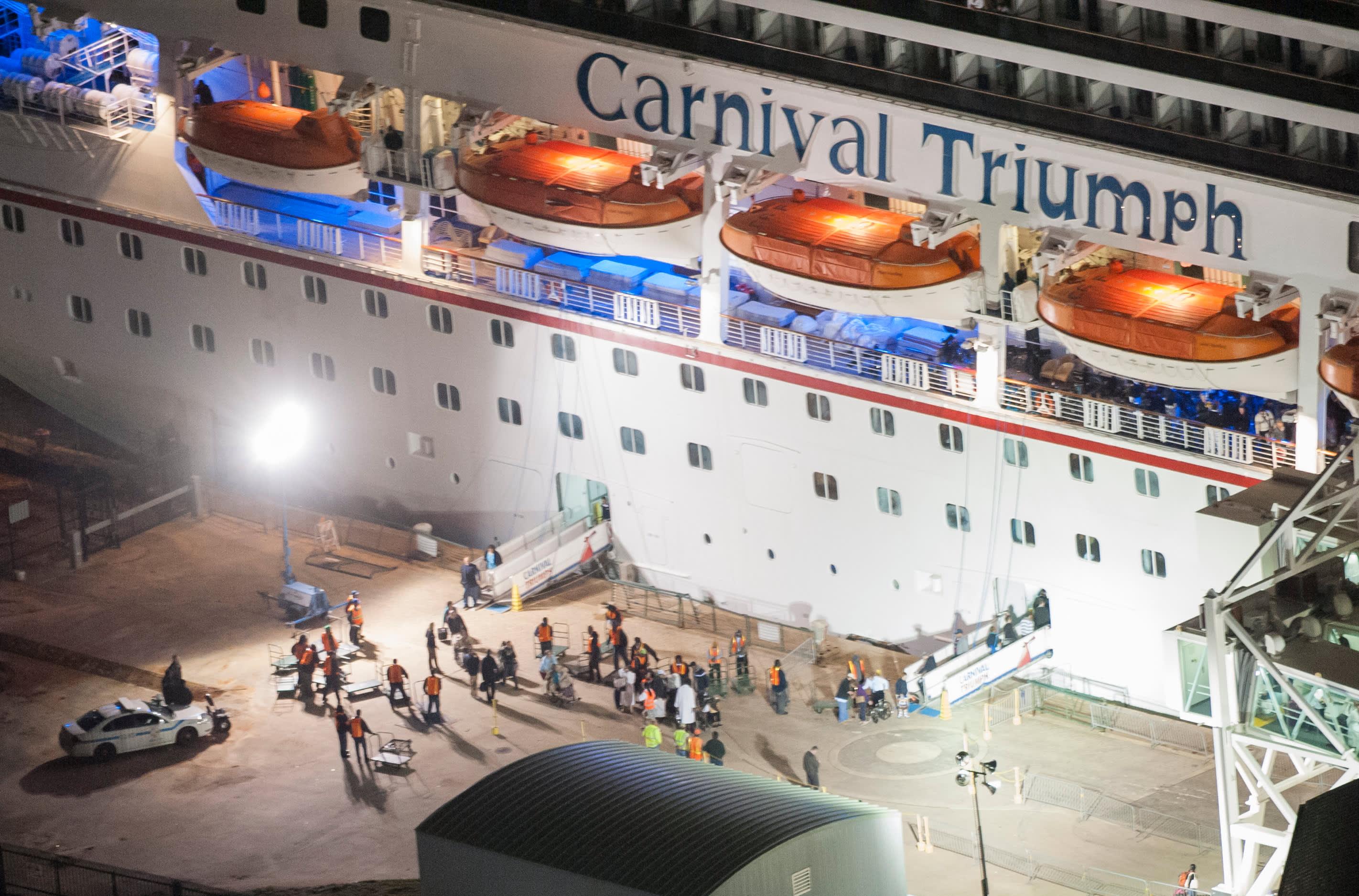 Carnival cruise ship triumph disaster