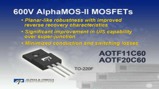600V AlphaMOS-II MOSFETs