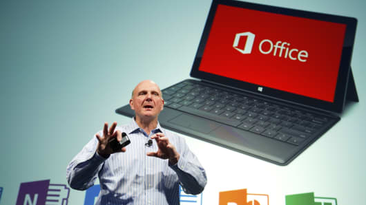 Steve Ballmer, chief executive officer at Microsoft Corp.