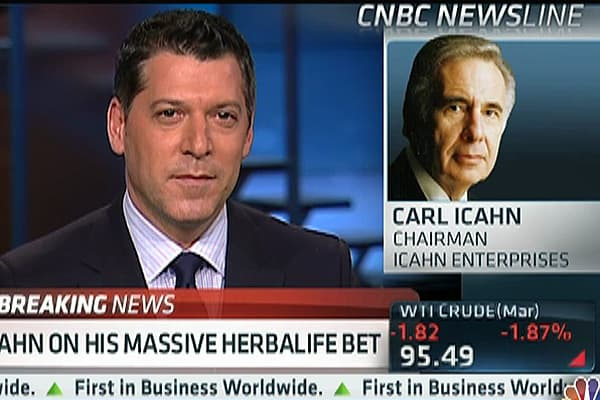 Icahn on Herbalife: I'm Trying to Make Money