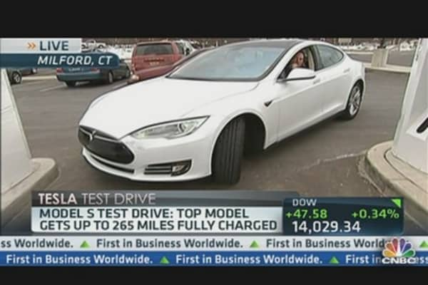 LeBeau's Tesla Model S 'Test Drive'