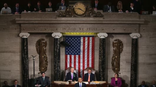 Obama delivers his 2013 State of the Union Address.