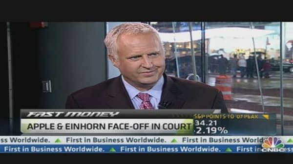 Apple, Einhorn Face-off in Court