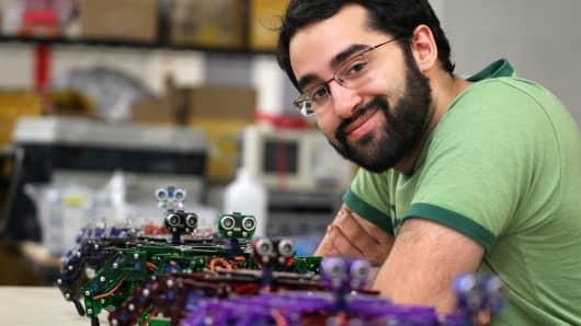 Entrepreneur Joseph Schlesinger has used Kickstarter, the crowd sourced website, to raise funding for his company ArcBotics.