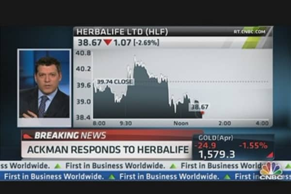 Ackman Responds to Herbalife