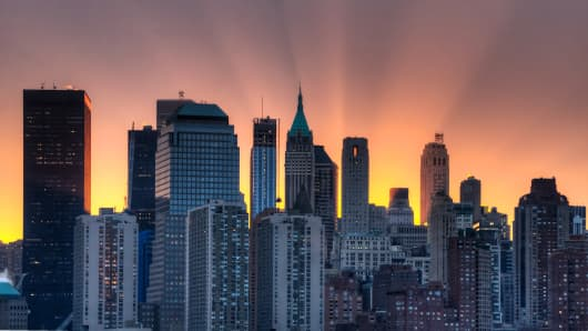 Manhattan New York sunrise