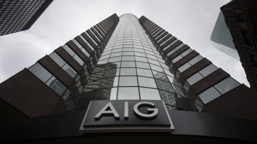 American International Group Inc. (AIG) offices in New York, U.S.