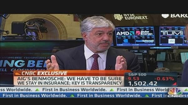 AIG CEO on Earnings, Transparency & Economy
