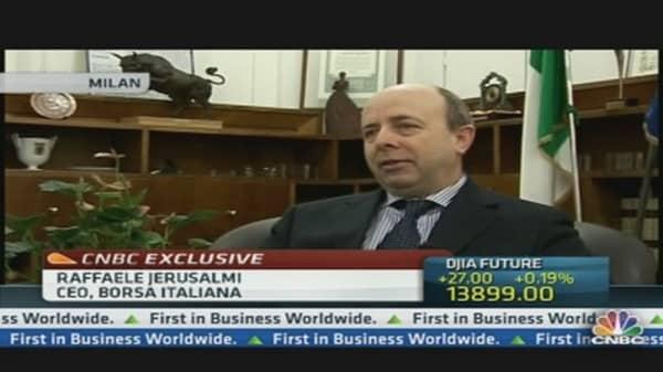 Italy is in 'Safe Zone': CEO of Borsa Italiana