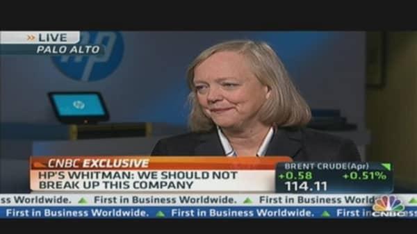 CEO Whitman: 'We Should Not Break Up' HP