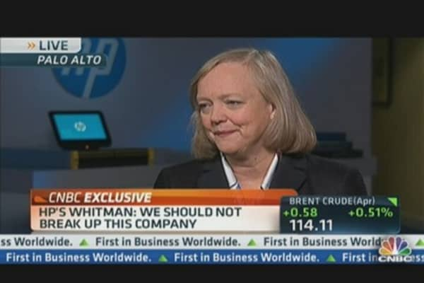CEO Whitman: 'We Should Not Break Up' HP
