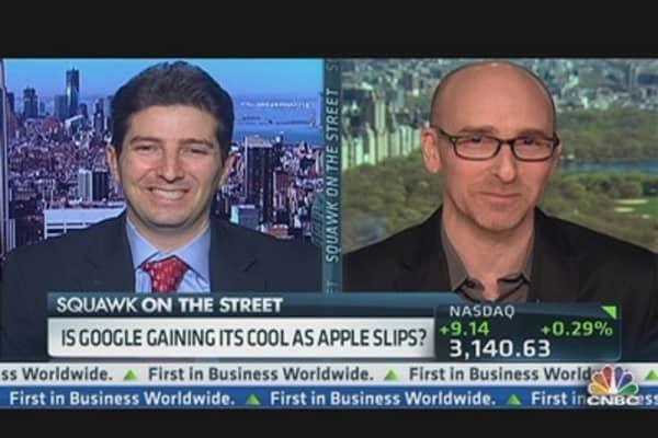 Is Google Gaining Cool as Apple Slips?