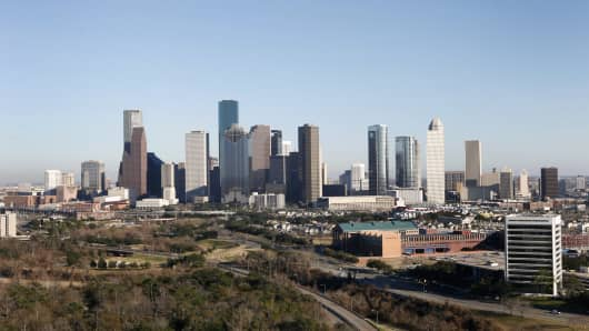 Houston's skyline.
