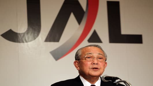 Japan Airlines Corporation (JAL) Chairman, Kazuo Inamori,