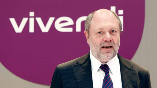 Vivendi's Chief Administrative Officer Philippe Capron