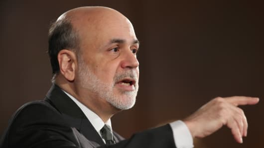 Federal Reserve Chairman Ben Bernanke.